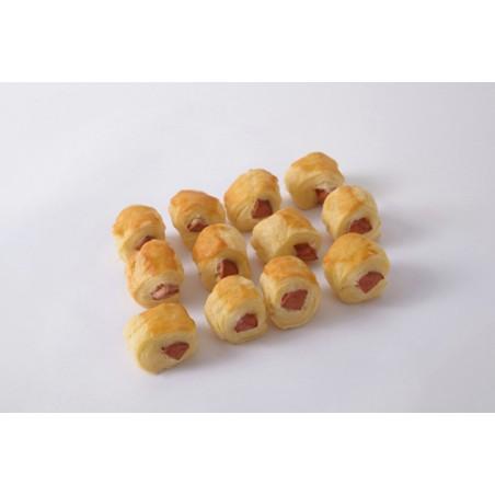 Mini enrollados de hot-dog